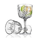 Wly&home Crystal Copa de Vino, Juego de 2 Vino Gran Vidrio, Elegante, Duradero y cristalina para Copas de Vino, 100% Plomo Copa, Pinot Noir, Burdeos - 480 ML