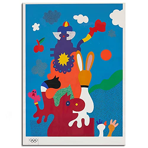 """Otmar Alt 1972 Olympic Games Munich Poster Canvas Prints Poster Wall Art For Home Office Decorations Unframed 10""""x8"""""""