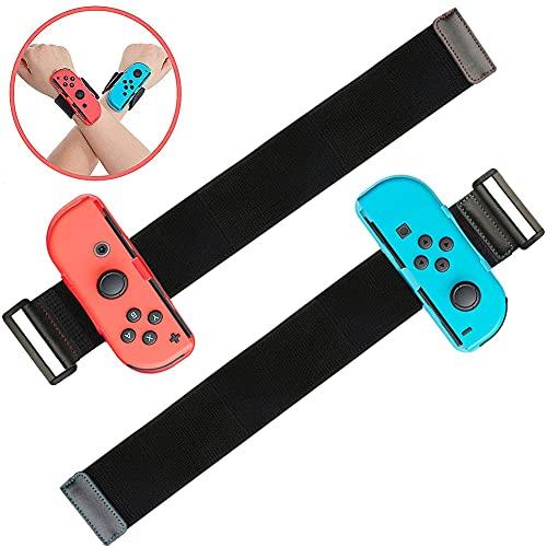 2PCS Braccialetti per Just Dance 2021 2020 2019 per Nintendo Switch Controller Game, Comodo Cinturino Elastico Regolabile per Controller JoyCon
