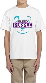 Doodle Youths Crew-Neck T-Shirt L.A. Metta World Peace Panda I Bleed Purple Short Sleeve