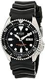 Seiko Black Dial Black Rubber Automatic Men's Watch Black Dial Black Rubber Automatic Men's Watch Watch