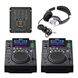 Gemini MDJ-600 y Citronic Mixer DJ Mixing Package CD Player Deck Disco
