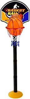 Xelue FF Portable Basketball Hoop Stand Set Indoor Outdoor with Net & Mini Ball for Kids Toddlers Child Gift