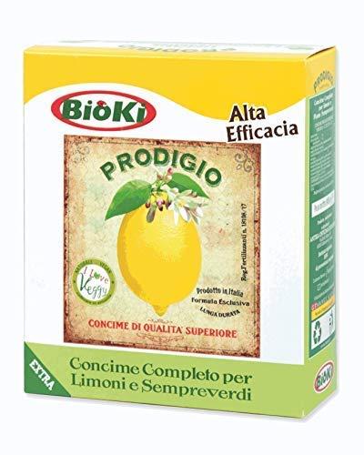 Bioki Prodigio Limone, Concime Organo Minerale specifico per piante di agrumi, limone, arancio, mandarino, ecc,  900 G