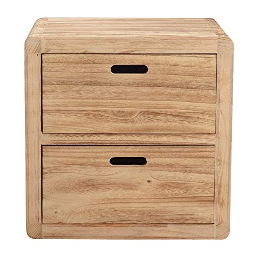 Rebecca SRL Nachtkästchen Nachttisch 2 Schubladen Holz Schlafzimmer (Code RE4147)