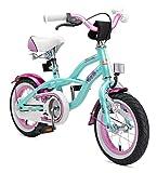 Rad BIKESTAR Premium Sicherheits Kinderfahrrad 12 Zoll für Mädchen ab 3 - 4 Jahre ★ 12er Kinderrad Cruiser ★ Fahrrad für Kinder Mint für Kinder bei Amazon