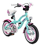BIKESTAR Bicicleta Infantil para niños y niñas a Partir de 3 años | Bici 12 Pulgadas con Frenos | 12' Edición Cruiser Turquoise