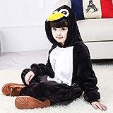 KRAZY TOYS Pijama Animal Entero Unisex para Niños como Ropa de Dormir-Traje de Disfraz para Festival de Carnaval (Pinguino, 3-5)