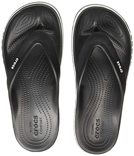 Crocs Men's Bayaband Black/White Flip-Flops-9 UK (43.5...