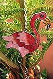 S&D Windspiel mit Flamingo-Sonnenfänger, zum Aufhängen