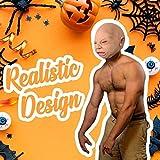 2020 espeluznante Halloween Cosplay disfraz cara máscara para adultos decoración de fiesta apoyos aterrador llanto feo bebé tocado para divertido (A)