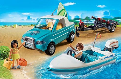 Coche pick up con lancha Playmobil - Summer Fun (6864)