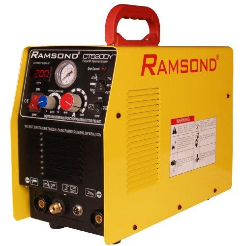 Ramsond CT 520DY 3-in-1 Multifunction Digital Inverter Plasma Cutter + TIG Welder + ARC (MMA) Welder, Dual Voltage 110/220V Dual Frequency 50/60Hz