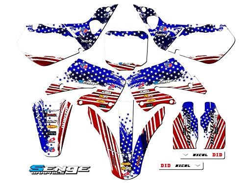 Senge Graphics Kit Compatible with Honda 1997-1999 CR 250 Merica Graphics kit