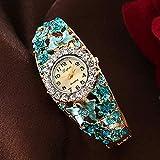 Reloj De Pulsera De Moda Conjunto De Diamantes Cabeza Redonda Aleación Mesa De Moda Vintage para Mujer
