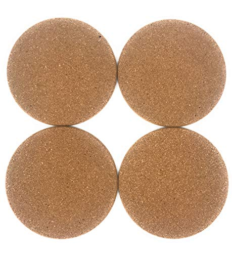 lana naturalis®, sottopentola in sughero, set da 4 pezzi, 19 cm di diametro, spessore: 10 mm, in robusto sughero naturale