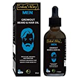 100% natural beard oil for growing beard. Beard growth oil for men: Specially formulated oil helps in the growth, nourishment and strengthening of beard & hair. Beard oil for smooth and shine: This beard oil adds luster, shine, strength to beard & mo...