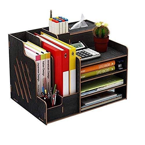 JYV Pequeños Accesorios de Escritorio, Material de Oficina Organizador de Escritorio, 3 Colores Opcionales adecuados for Rack de Almacenamiento de Archivos en el Escritorio de Oficina (Color : A)
