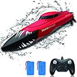 RC Boat for Pools and Lakes Remote Control Boats for Kids Adults 2.4Ghz Radio Controlled Boat 20km/h High Speed Race Boat Toys Gifts for Boys Girls