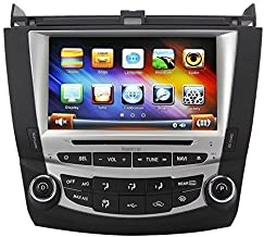 Koolertron for 7th 2003-2007 Honda Accord Dual Zone 8 Inch Digital HD Touchscreen Car DVD GPS Honda Accord Radio (Single Zone)