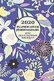 2020 Planificateur Hebdomadaire Avec Des Versets Bibliques Sur Chaque Page: Organiseur D'horaire Pour Les Femmes Chrétiennes