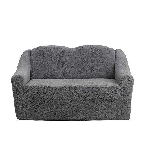 Mixibaby Sofabezug Sofahusse Sesselbezug Sitzbezug Sesselüberwurf Husse 2 er Sofa Wellsoft, Farbe:dunkelgrau