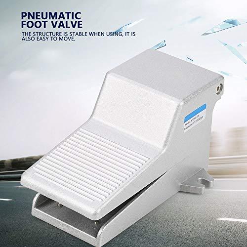 G1/4 2 Position 5 Wege Pneumatisches Fußpedal, Fußschalter Pneumatischer Fußschalter Controller Pneumatisches Ventil 1/4 Aluminiumlegierung zur Steuerung des Mediums und Richtungsänderung