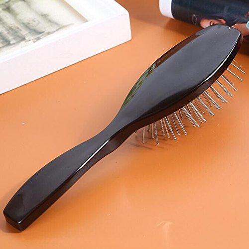 Perruque de cheveux Brosse de massage en acier Brosse à cheveux Peigne Cuir Chevelu masseur kit