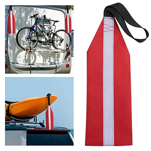 Kayak Red Travel Safety Flag with Reflective, Red Travel Warning Flag,Kayak Canoes Towing Warning...