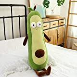 N-B Linda imagen creativa de dibujos animados fruta trapo muñeca almohada ojo grande almohada aguacate peluche