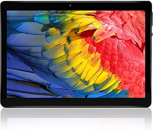 Tablet 10 Zoll, Android 10 Tablet-PC, 4GB RAM 64GB ROM Quad-core Processor, 1280×800FHD IPS, 5MP+8MP Kamera GPS WiFi Bluetooth 5,0 Typ-c TF-Karte Ganzmetall 8000mAh
