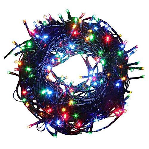 Luces de la secuencia funciona con pilas, 200 luces de hadas del LED 20M / 66FT, 8 modos de iluminación IP44 impermeabilizan las luces decorativas para el jardín, la boda, la fiesta de Navidad