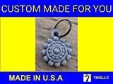 BOTON CHARRO CIRCLES KEYCHAIN or PENDANT FASHION JEWELRY KEY CHAIN KEY RING 3D PRINTED - PR158 (Yellow)