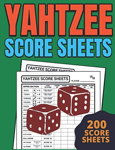Yahtzee Score Sheets: The Ultimate Yatzee Dice Game Score Sheets, Game Record Score Keeper Book, Score Card,  Triple Yahtzee Score Pads, Triple Yahtzee Game