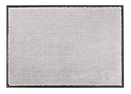 Schöner Wohnen Kollektion strapazierfähige Schmutzfangmatte Miami – getuftete Fußmatte 67x100 cm in Grau – waschbarer Sauberlauf