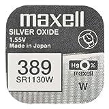 Maxell One (1) X 389SR1130W óxido de Plata Pila de Reloj, 1,55V