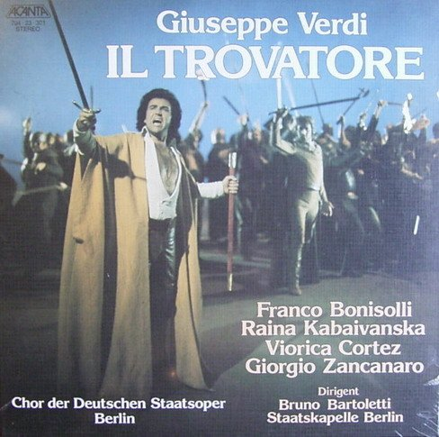 Verdi: Il Trovatore (Gesamtaufnahme in italienischer Sprache) [Vinyl Schallplatte] [3 LP Box-Set]