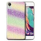Handy Hülle kompatibel mit HTC Desire 10 Lifestyle Glitter
