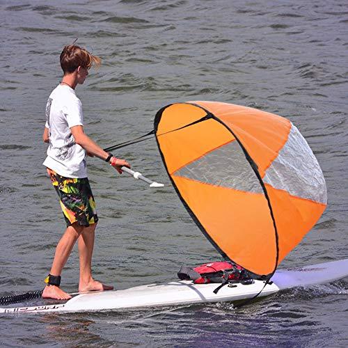 Weikeya A Favor del Viento Viento Paleta, Apropiado Navegar Equipo Kayac Servicio La Vida con Cloruro de polivinilo Viento Navegar (Naranja)