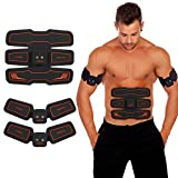 <span class='highlight'>HURRISE</span> <span class='highlight'>EMS</span> <span class='highlight'>Muscle</span> <span class='highlight'>Stimulator</span>, Abs Trainer Stomach Toning Belt Abdomen/Waist/Leg/Arm/Buttock with 6 Modes, USB Rechargeable, Body Fitness Exercise Equipment (Men/Women) (15 Levels)