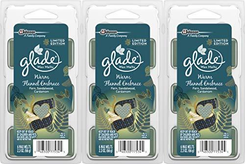 Glade Wax Melt Refills Warm Flannel Embrace 2.3 OZ , 6 CT