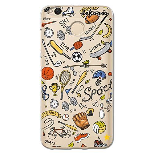 dakanna Funda para [Xiaomi Redmi 4X] de Silicona Flexible, Dibujo Diseño [Pattern Figuras Deportivas, Tenis, Bicicleta, Futbol, Baloncesto y Gimnasio], Color [Fondo Transparente] Carcasa Gel TPU