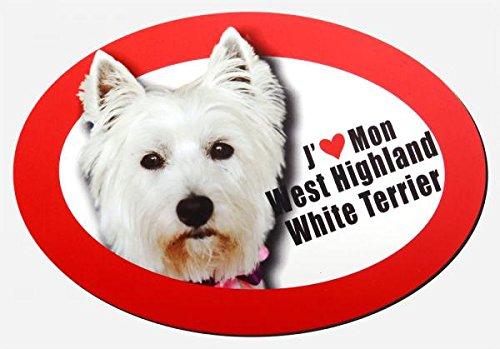 magnet j'aime mon west highland white terrier