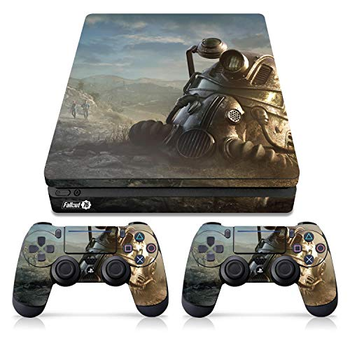 Controller Gear Officially Licensed Console Skin Bundle for PS4 Slim - Fallout - Power Armor Helmet