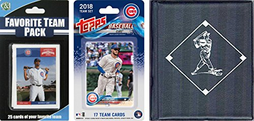 C&I Collectables MLB Chicago Cubs 2018Cubstscmlb Chicago Cubs 2018 con licencia de Topps Team Set & Favorite Player Trading Cards Plus Álbum de almacenamiento, marrón, N/A