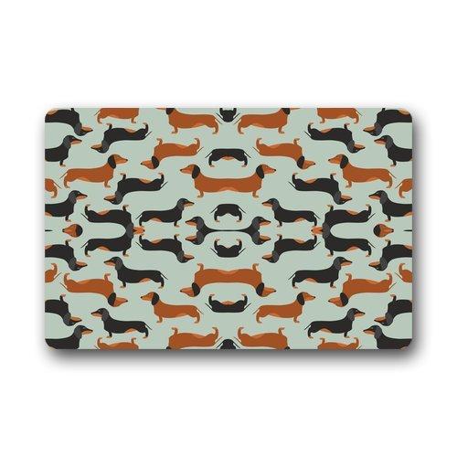 Doormat Felpudo decorativo a la moda con patrón sin costuras para interior y exterior, 59,6 cm de largo x 39,9 cm de ancho.