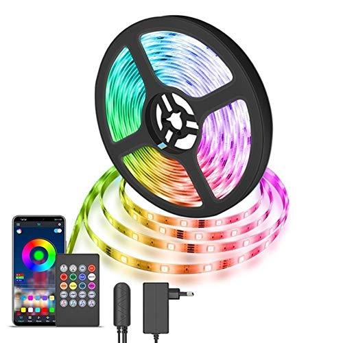 Aplicación controlada de la cuerda del LED Breve mareos, 10m tira del LED RGB 5050 sin acento luces 10M de sincronización de música Intensidad Cambio sensible micrófono incorporado