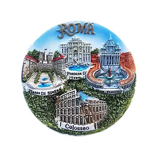 Vatican Trevi Fountain Colosseum Rome Italy Fridge Magnet Resin 3d City Trip Travel Souvenir Colleciton Sticker