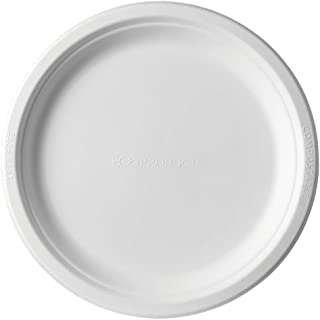 Eco-Products EP-P013 Renewable & Compostable Sugarcane Plates, 9-inch Dinner Plate, (Case of 500)