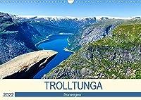 Trolltunga (Wandkalender 2022 DIN A3 quer): Eine anspruchsvolle Wanderung mit einer einzigartigen Aussicht. (Monatskalender, 14 Seiten )